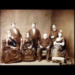 Zleva nahoře Adolf, Richard, Maxmilian, uprostřed dole jejich rodiče Henrieta a Solomon, vlevo Ema a vpravo Hana